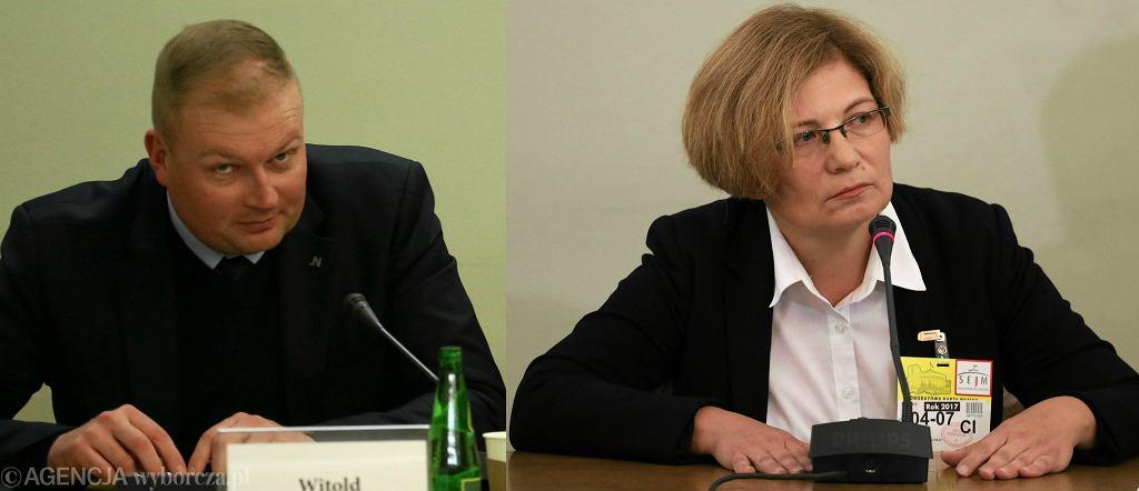 Poseł Witold Zembaczyński i prokurator Barbara Kijanko