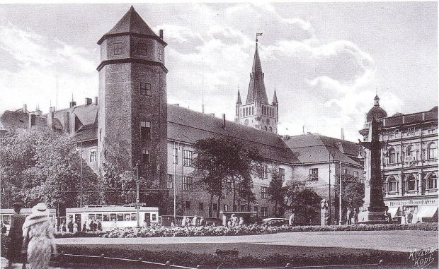 Zamek krzyżacki w Królewcu w 1920 r.