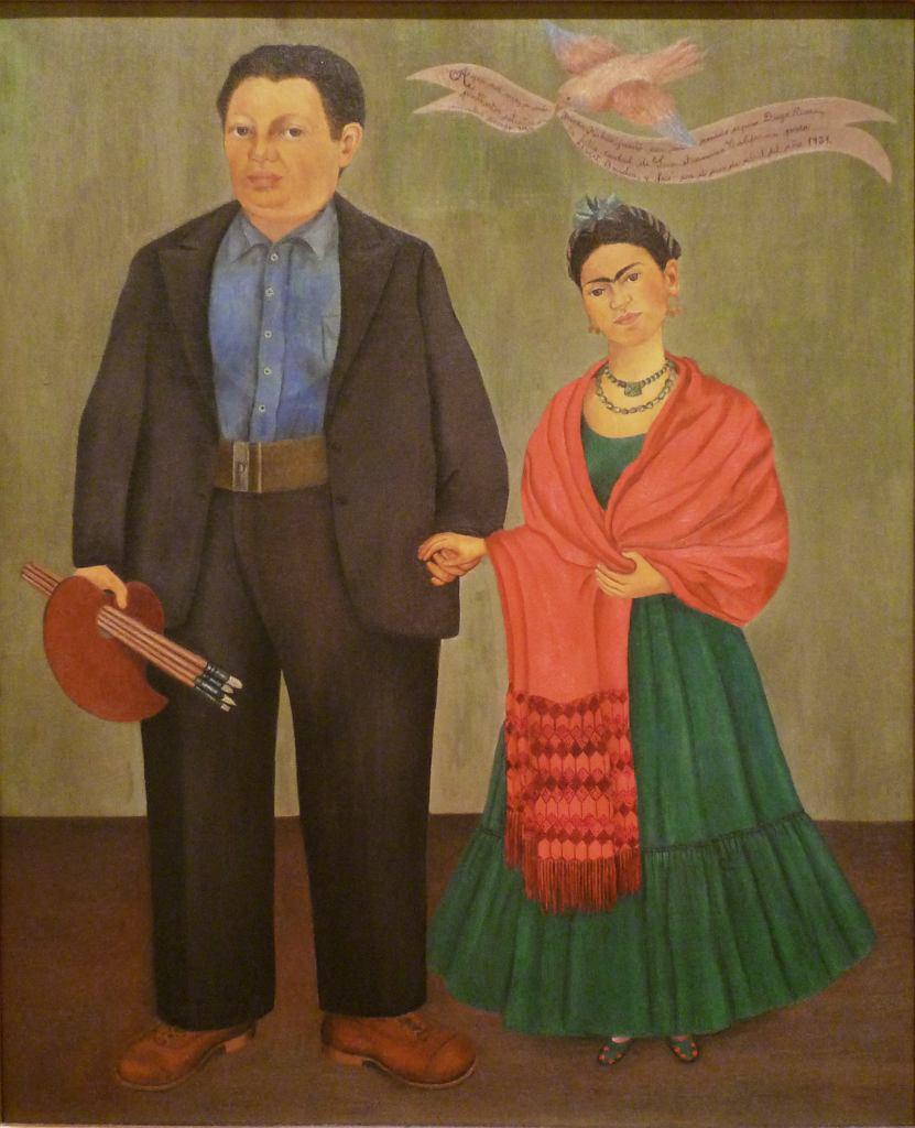 Frida Kahlo, Frida and Diego Rivera, 1931 / San Francisco Museum of Modern Art / flickr.com