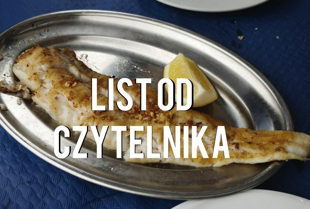 Rybka (akurat ta to morszczuk) zamówiona w hiszpańskiej Cantabrii w portowej knajpie.