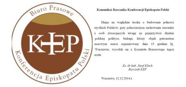 Komunikat rzecznika KEP
