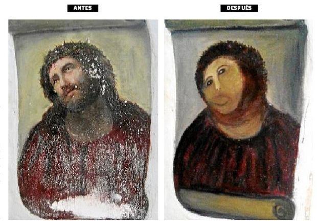 Obraz przed i po