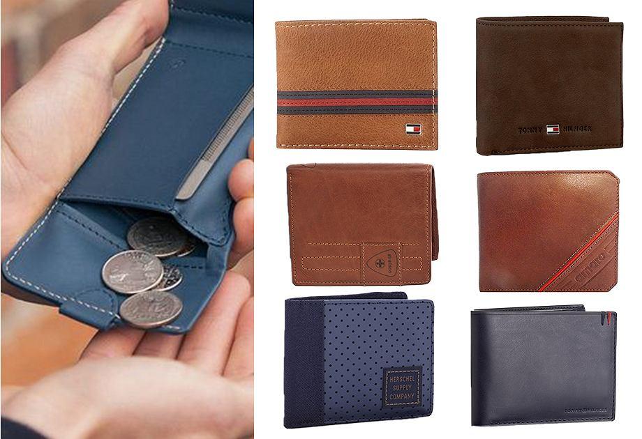 Kolorowe męskie portfele