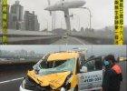 Katastrofa w Tajpej: o t� taks�wk� zahaczy� skrzyd�em samolot, kierowca unikn�� �mierci