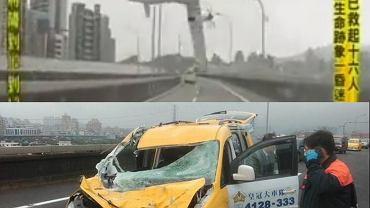 Katastrofa w Tajpej. Samolot spadając uderzył w taksówkę