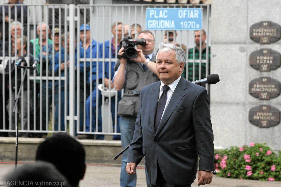 Lech Kaczyński w Szczecinie w 2007 roku