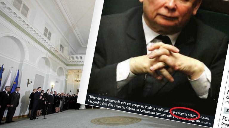 Jarosław Kaczyński na okładce portugalskiej gazety