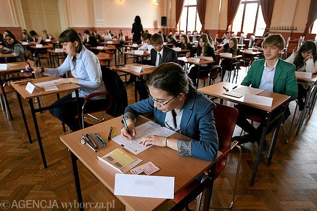 Egzamin gimnazjalny 2013 w Zespole Szk� Og�lnokszta�c�cych nr 1. w Toruniu.