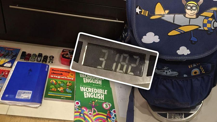 4f1c3e7fa8e31 Polscy uczniowie przygnieceni ciężarem tornistra  Ważymy plecaki ...