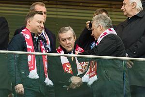 """Polska-Armenia. Andrzej Duda i Aleksander Kwaśniewski na jednej trybunie. Kiedy """"Lewy"""" strzelił gola... Zobaczcie, co zrobili prezydenci"""