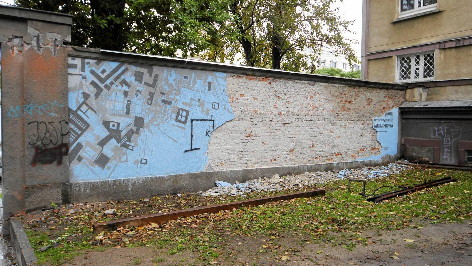 Dzielnica sku a mural obiecuje e go odtworzy for Mural ursynow
