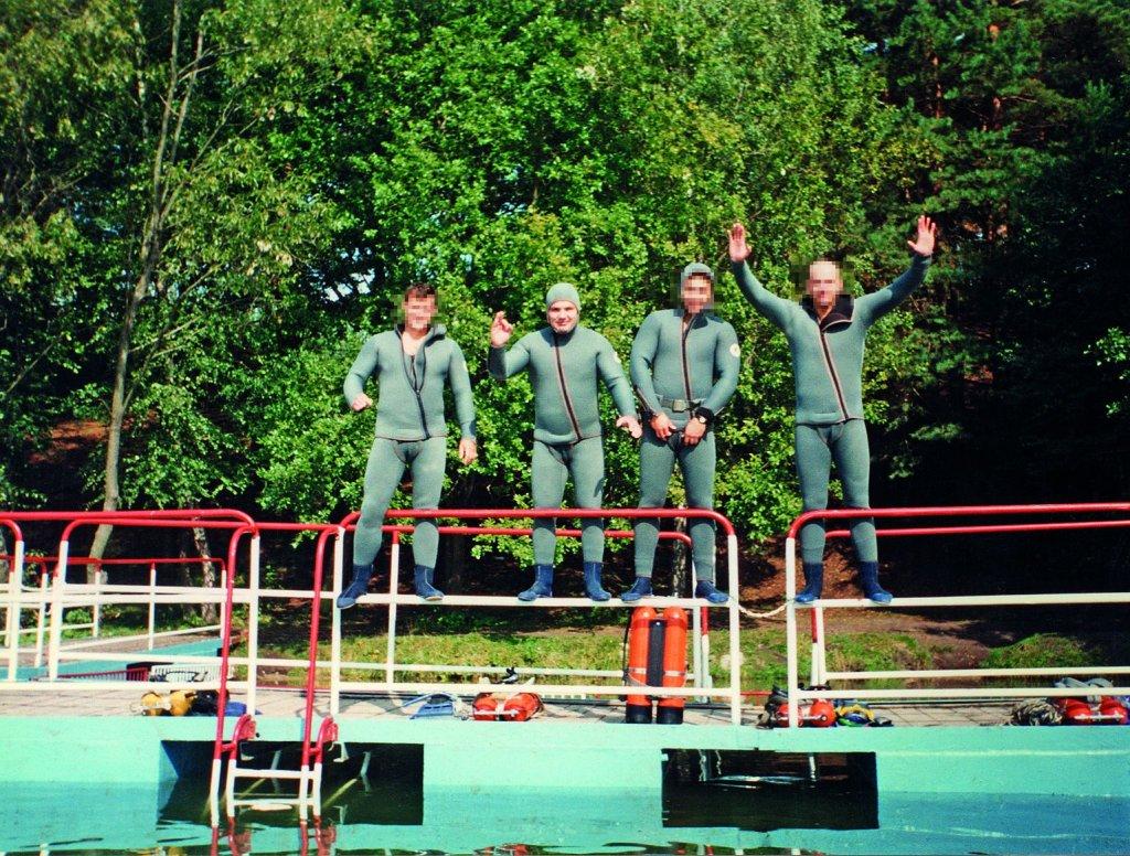 Szkolenie płetwonurków III klasy, SPAP Gdańsk, 1987 rok (fot.archiwum prywatne)