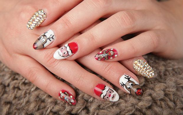 Pomysł Na Paznokcie Wigilijny Manicure