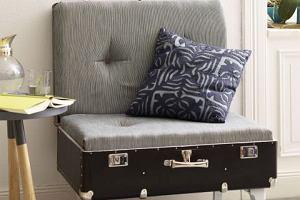 DIY - fotel ze starej walizki