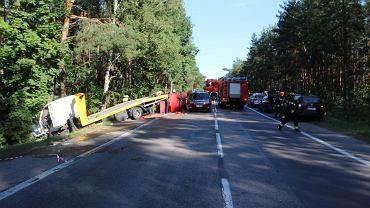 Miejsce wypadku drogowego