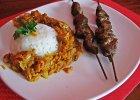 Kark�wkowe szasz�yki z indyjsk� potrawk�