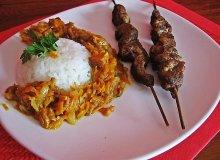Karkówkowe szaszłyki z indyjską potrawką - ugotuj