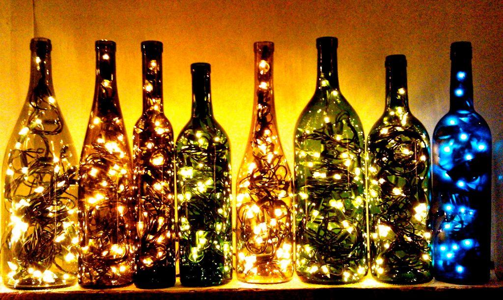 Dekoracje z butelek po winie