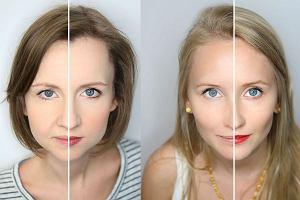 Jak bardzo zmienia się twarz pod wpływem makijażu