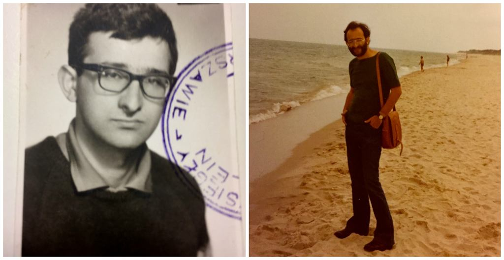 Jerzy Sarnecki w wieku 20 lat (z lewej) i kilka lat później, na wakacjach we Włoszech (fot. archiwum prywatne)