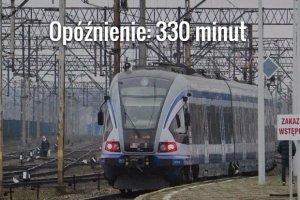 Pociąg do Szczecina z 500 pasażerami utknął w polu, gigantyczne opóźnienie