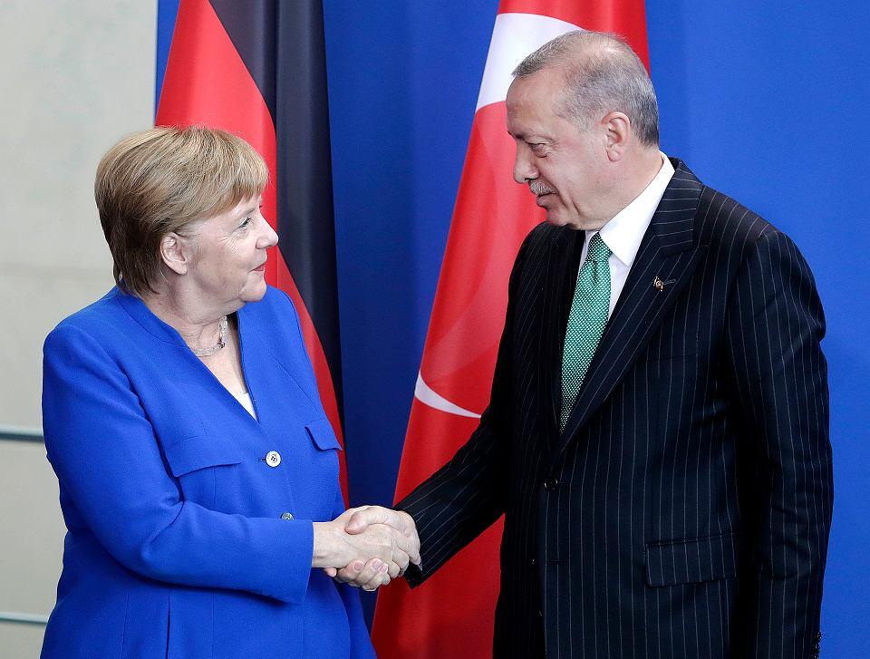 Kanclerz Angela Merkel i prezydent Turcji Recep Tayyip Erdogan, Berlin 28.09.2018 r.