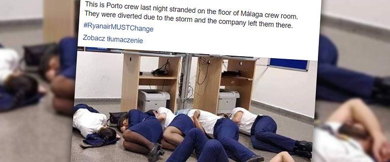 Załoga Ryanaira musiała spać na podłodze, bez posiłków i napojów. Irlandzki przewoźnik się tłumaczy