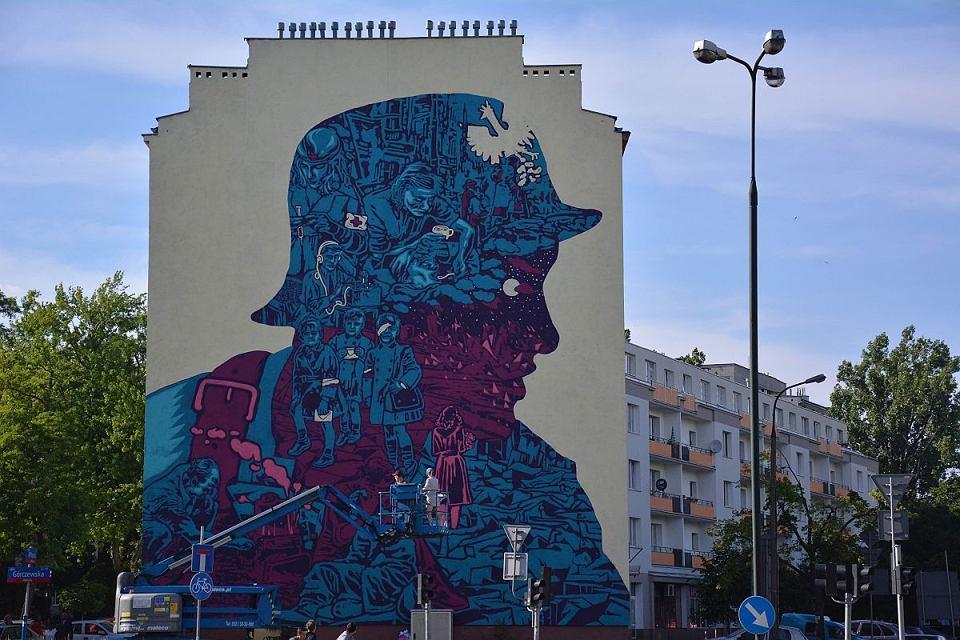 Wola nowy mural po wi cony cywilom podczas powstania for Mural ursynow