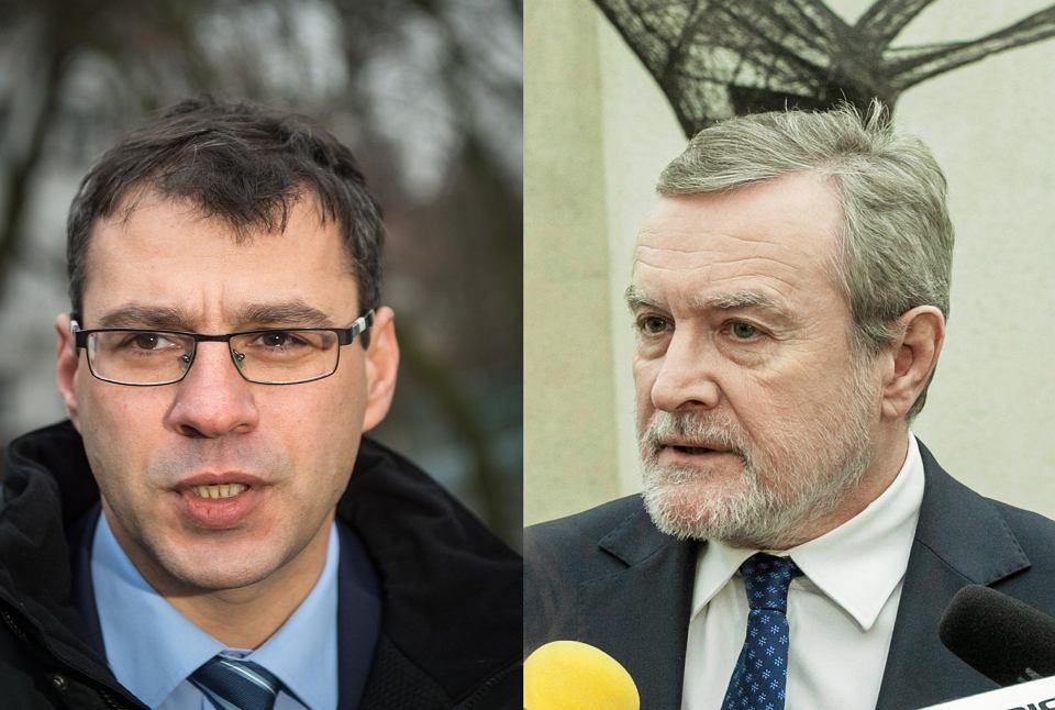 Jacek Karnowski (po lewej), redaktor naczelny 'Sieci', i Piotr Gliński, wicepremier i minister kultury