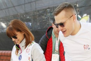 Marcin Mroczek z żoną