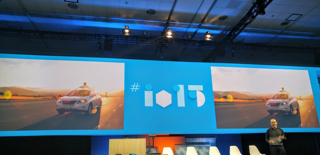 Astro Teller, szef Google X, podczas konferencji Google I/O 2015