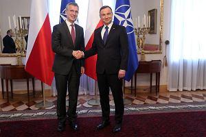 Andrzej Duda spotkał się z sekretarzem generalnym NATO Jensem Stoltenbergiem