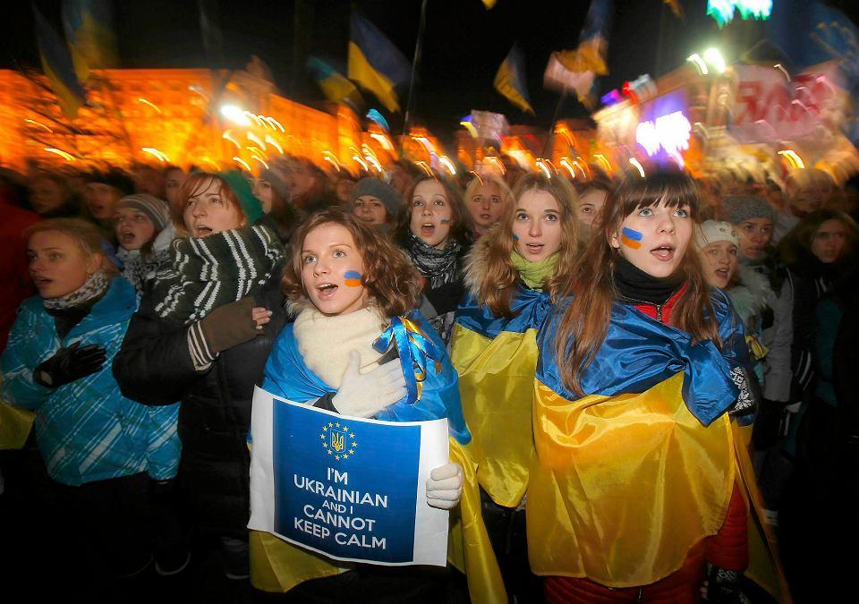 Demonstracja na placu Niepodległości w Kijowie