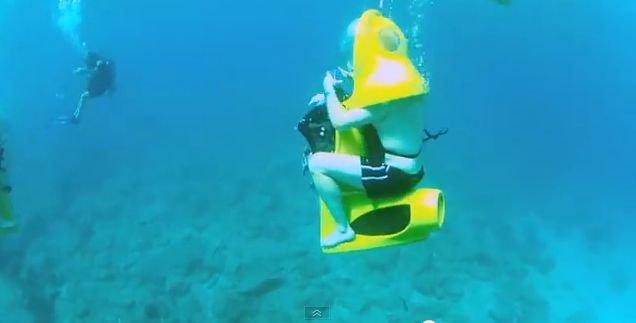 Podwodna jazda skuterem na Mauritiusie