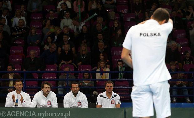 Jerzy Janowicz podczas pojedynku przeciwko Marinowi Cilicowi