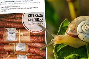 Polska firma wytwarza swojską kiełbasę ze... ślimaków. Wygląda jak zwyczajna - różni je cena
