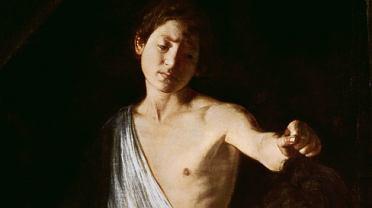 David z głową Goliata (1606). Goliat to autoportret Caravaggia