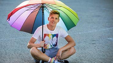 Arkadiusz Kluk, szef stowarzyszenia Grupa Stonewall i kandydat do rady miasta w wyborach samorządowych 2018 w Poznaniu