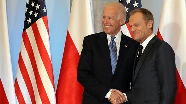 Joe Biden i Donald Tusk we wtorek w Warszawie
