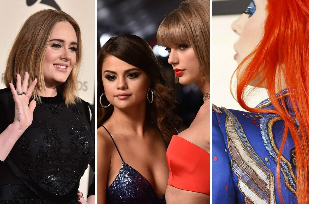 Zdjęcie numer 1 w galerii - GRAMMY 2016. Czerwony dywan pełen gwiazd. Adele (chudsza!) w cudownej sukni Givenchy, Lady Gaga jako David Bowie