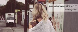 Projekt layoutu nowego bloga Mai Sablewskiej
