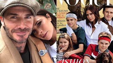 Victoria i David Beckham z dziećmi