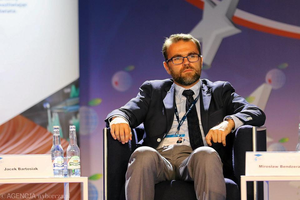 Jacek Bartosiak  podczas XXVII forum Ekonomicznego, 2017.