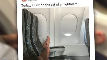 Zdejmowanie butów w samolocie jest nie tylko niehigieniczne, ale też niebezpieczne
