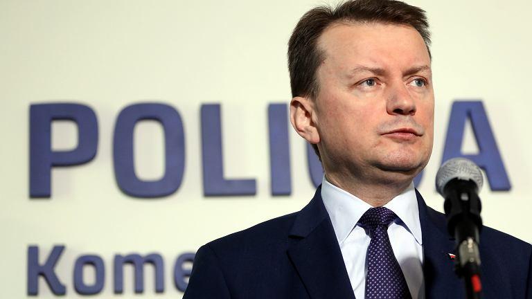 Minister spraw wewnętrznych i administracji Mariusz Błaszczak