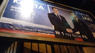 Zdjęcie plakatu przy ul. Ostrobramskiej