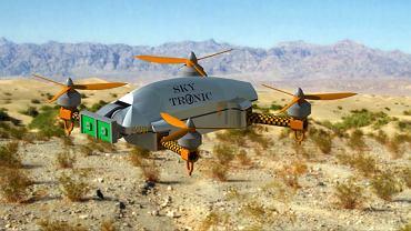 Wizualizacja drona Sky Tronic, który powstanie przy współpracy z firmą Budimex