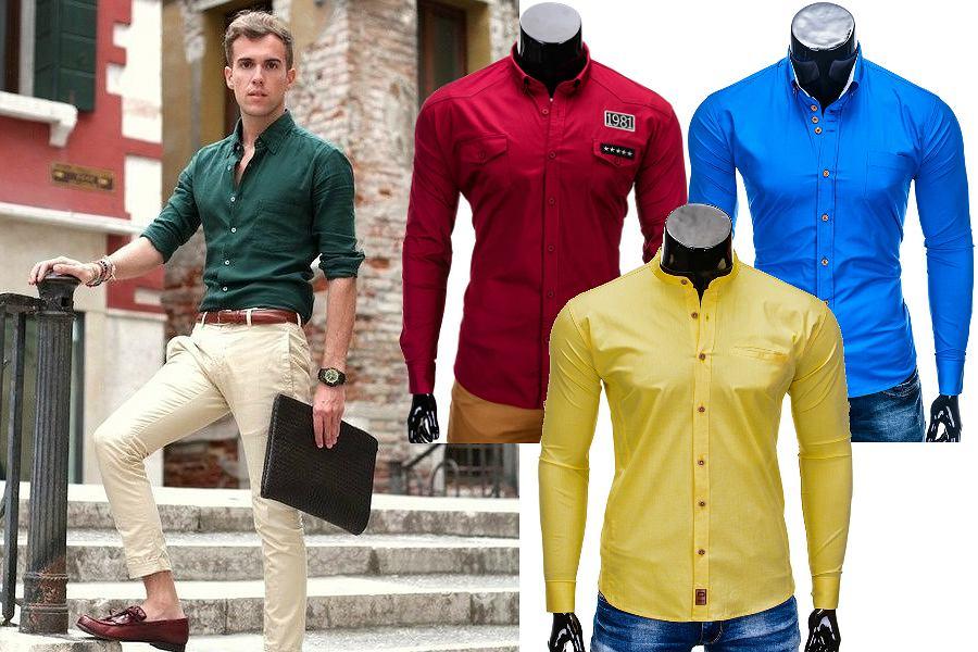 Koszule w mocnych kolorach