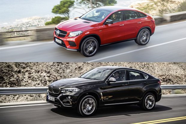 Mercedes GLE Coupe vs. BMW X6