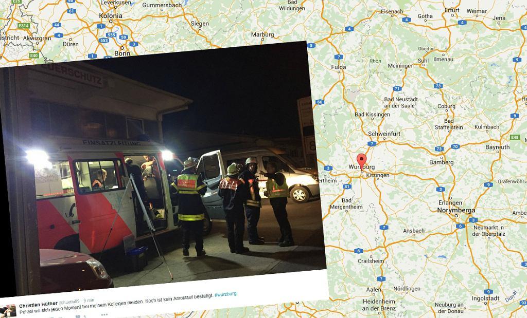 Atak w pociągu w Wurzburgu